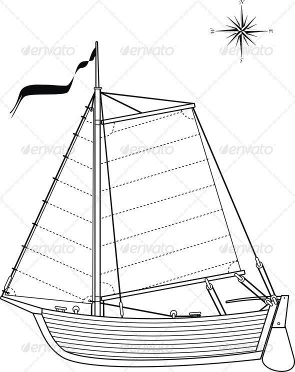 Sailing vintage boat  - Retro Technology