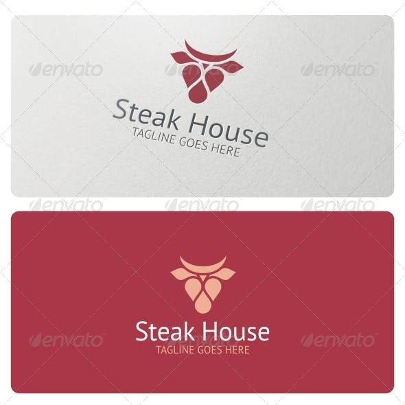 Steak House Logo Template