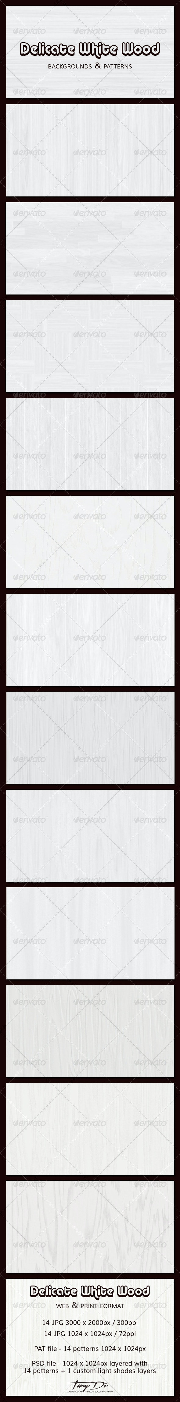 Delicate White Wood Backgrounds - Patterns Backgrounds