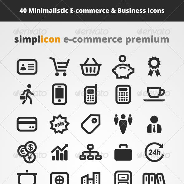 40 E-commerce Vector Icons