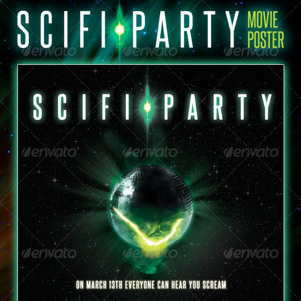 Scifi Party Movie Poster