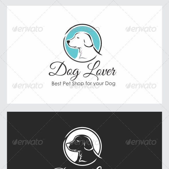 DOG LOVER LOGO TEMPLATE