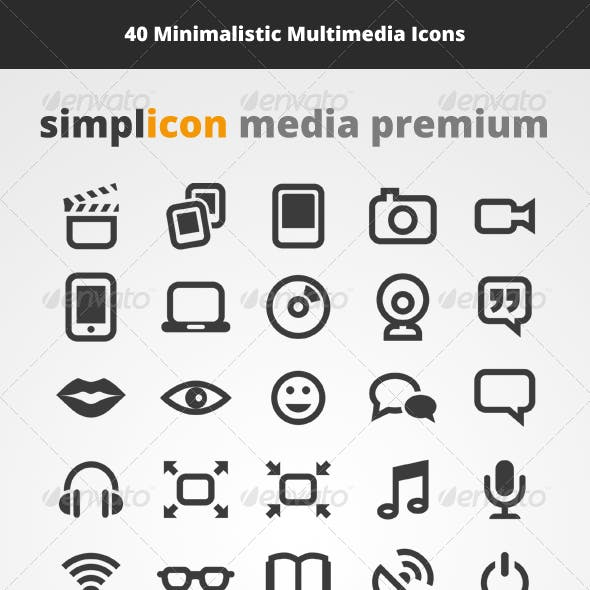 40 Multimedia Vector Icons