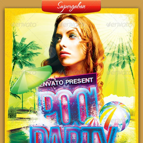 Pool Party A5 Flyer