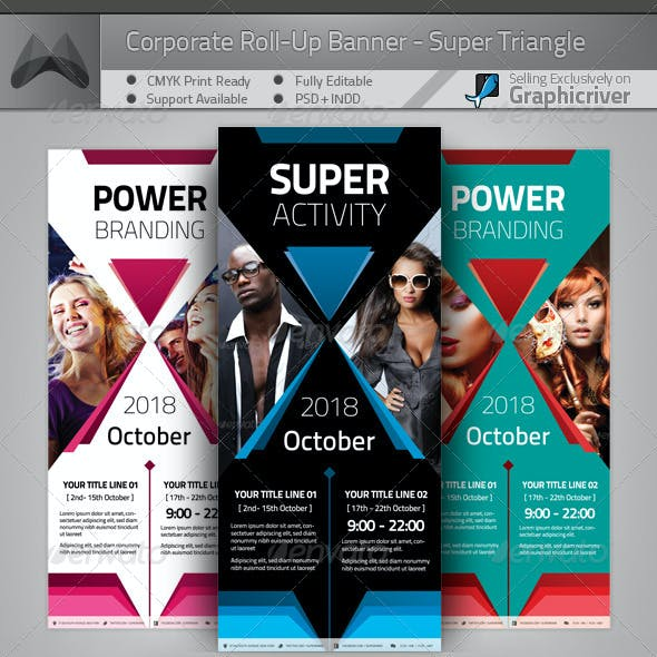 Corporate Roll-up Banner - Power Triangle