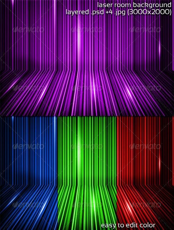 Laser Room Background - 3D Backgrounds