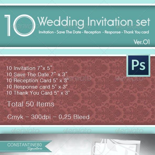10 Wedding Invitations Sets