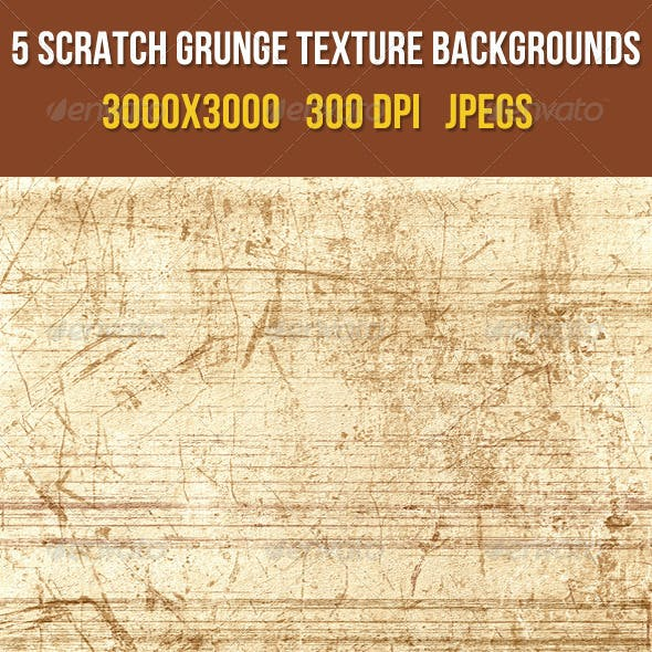 5 Scratch Grunge Texture Backgrounds