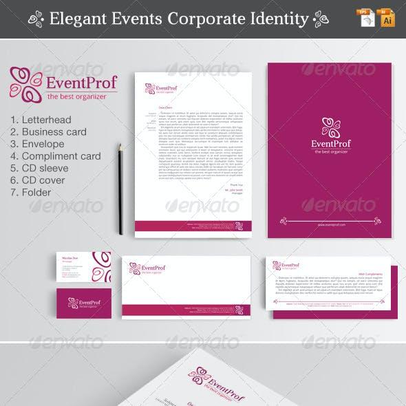 Elegant Events Corporate Identity