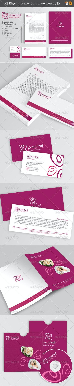 Elegant Events Corporate Identity - Stationery Print Templates