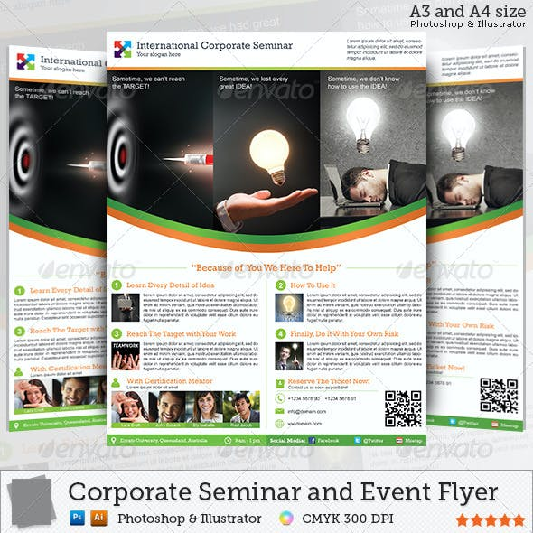 Corporate Seminar and Event Flyer