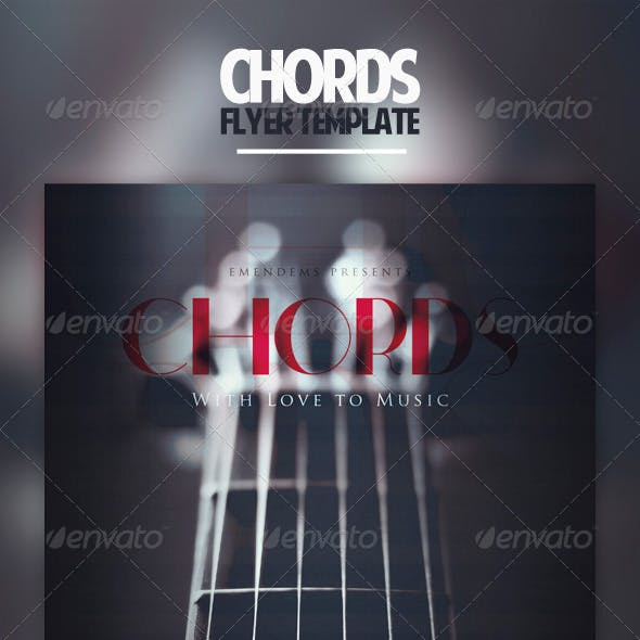 Chords Flyer Template