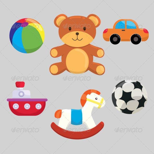 Cute Children Toys Set