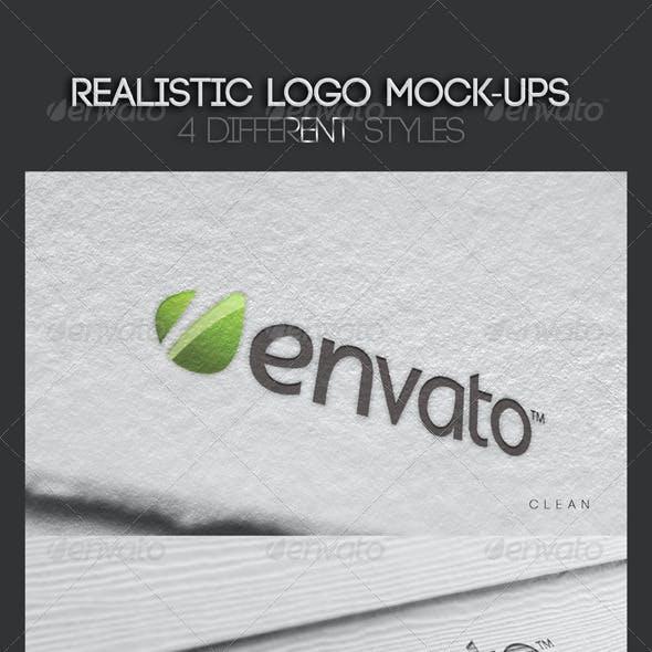 Realistic Logo Mock-Ups Vol.1