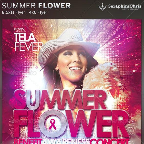 Summer Flower: Church Concert Flyer Template