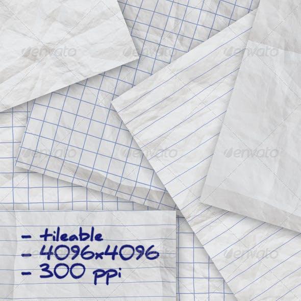 6 Crumpled Notepaper Textures