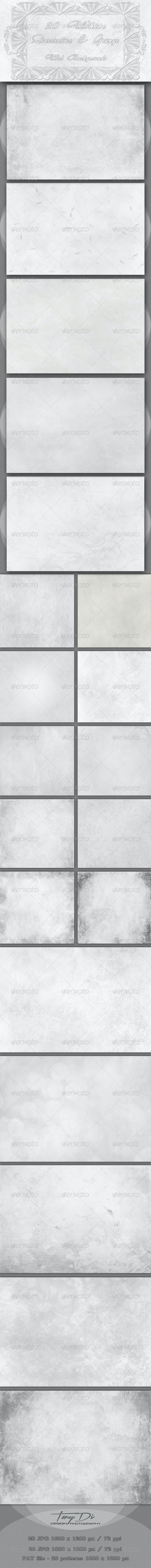 20 White Decorative and Grunge Web Backgrounds - Miscellaneous Backgrounds
