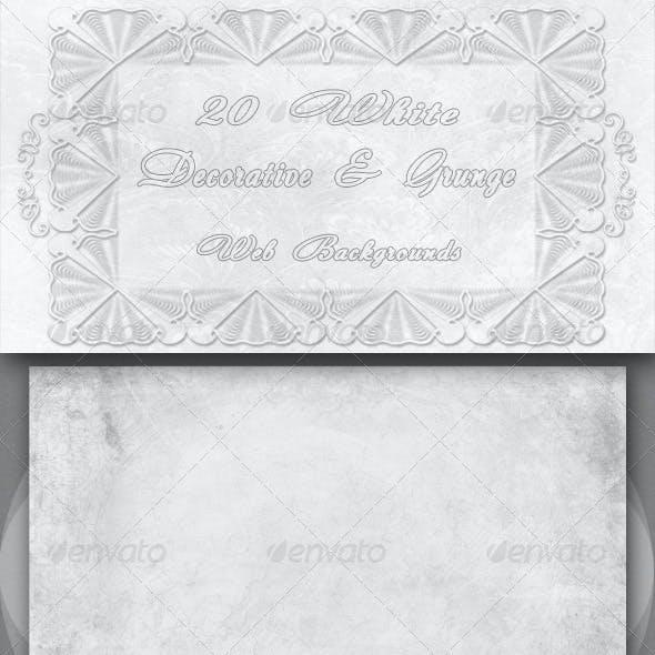 20 White Decorative and Grunge Web Backgrounds
