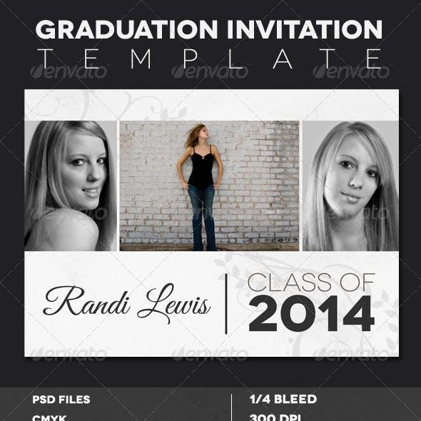 Modern Rustic Graduation Invitation