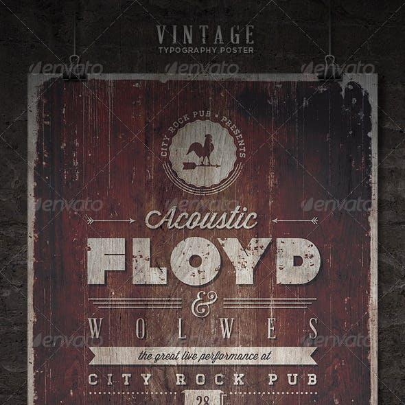 Vintage Typography Poster - IV