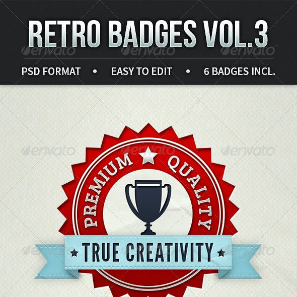 Retro Badges Vol. 3