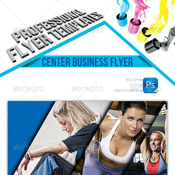 Center Business Flyer Template
