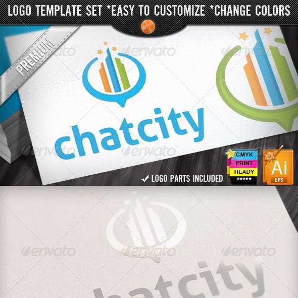 Mappings Buildings Locator Retro City Chat Logo