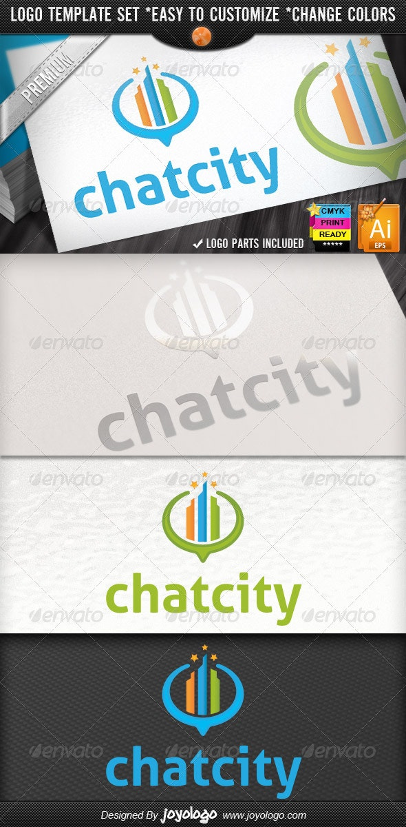 Mappings Buildings Locator Retro City Chat Logo - Buildings Logo Templates