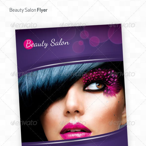 Beauty Salon A4 Flyer