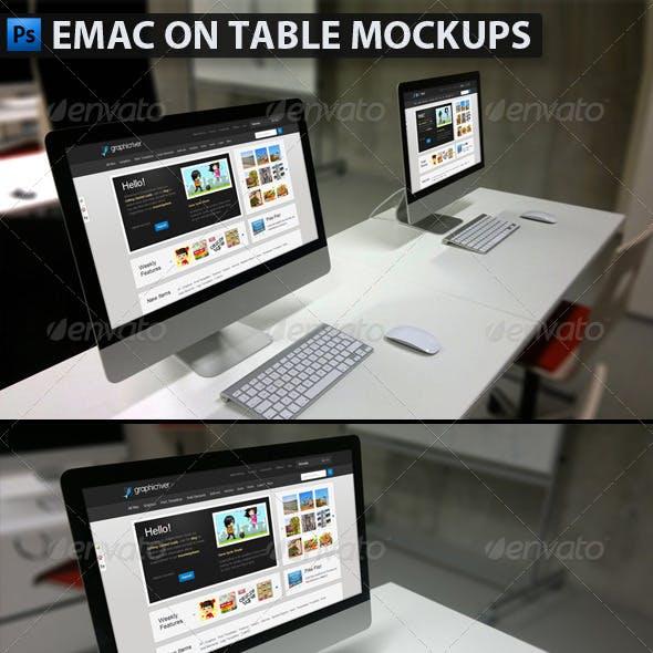Emac on Table Mockups