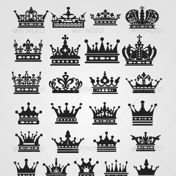25 Royal Crown Shapes