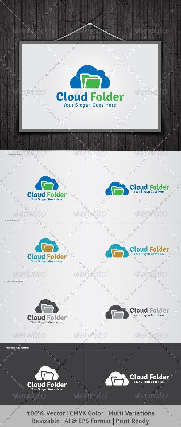 Cloud Folder Logo - Symbols Logo Templates