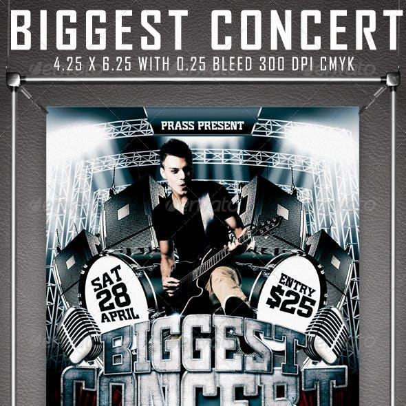 Biggest Concert Flyer Template