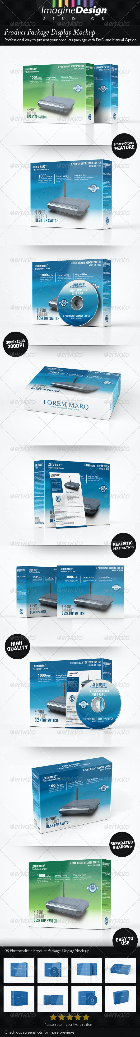 Product Package Display Mockup - Miscellaneous Packaging