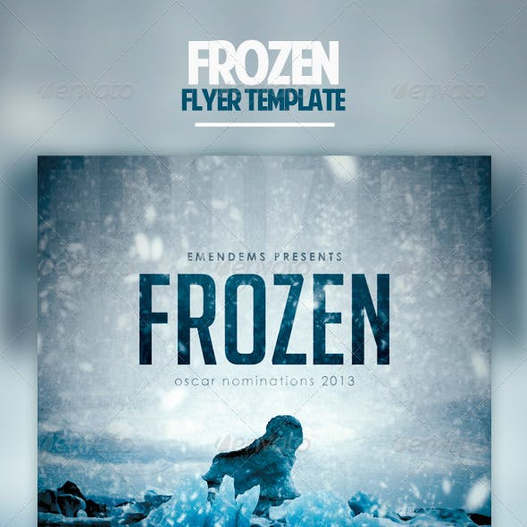 Frozen Flyer Template