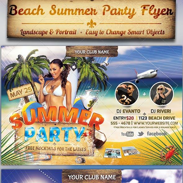 Beach Summer Party Flyer Template