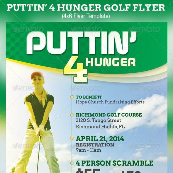 Puttin Charity Golf Flyer Template