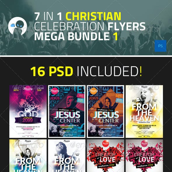 7 in 1 Christian Celebration Flyers Mega Bundle 1