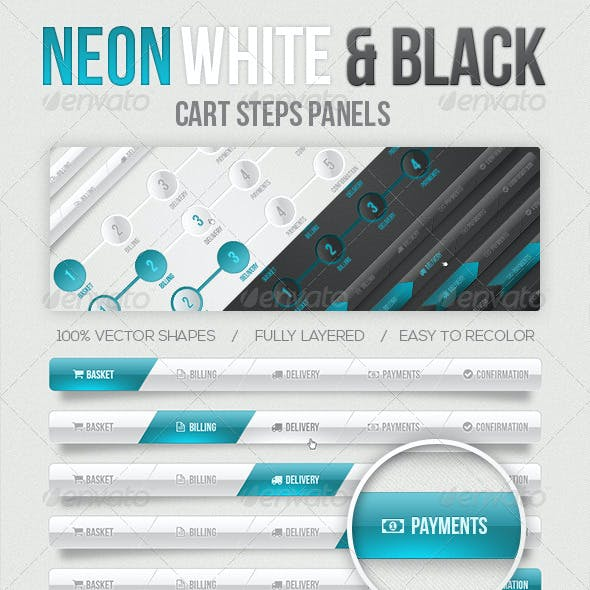 Neon Cart Step Panels