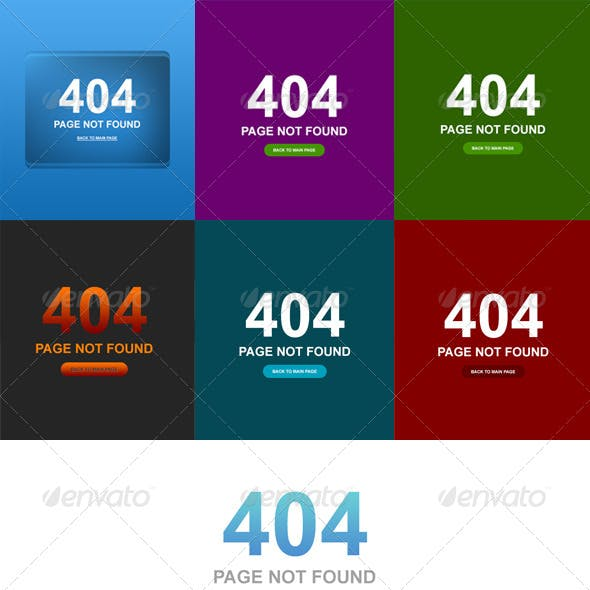 7 Clean Style 404 Error Web Pages