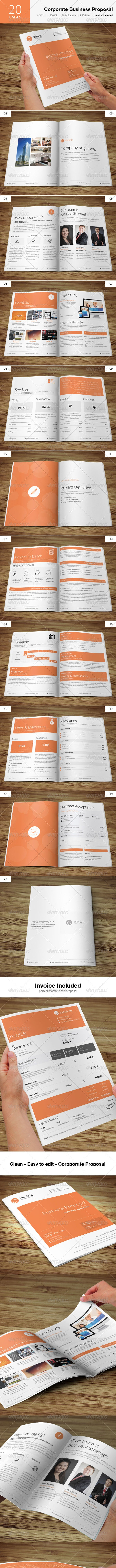 Corporate Business Proposal - Proposals & Invoices Stationery