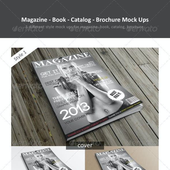 Magazine / Book / Catalog / Brochure Mock Ups