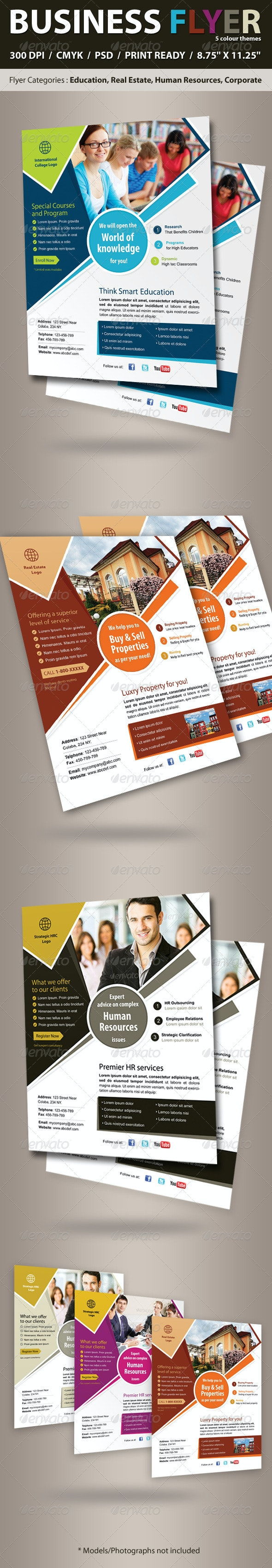 Business Flyer (Real Estate, Education, Corporate) - Corporate Flyers