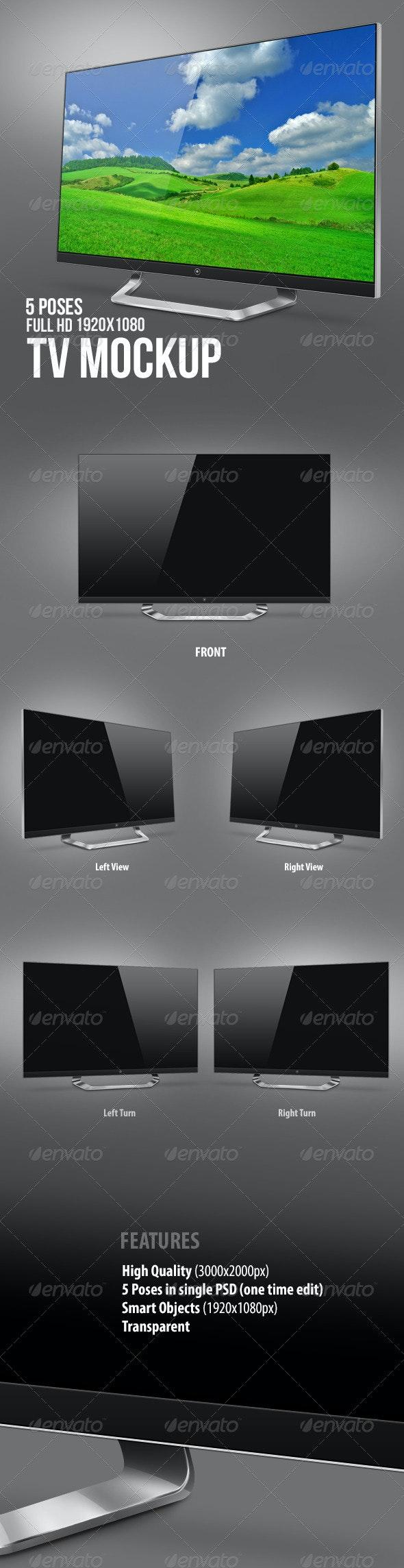 LED TV Mock-Up - Monitors Displays