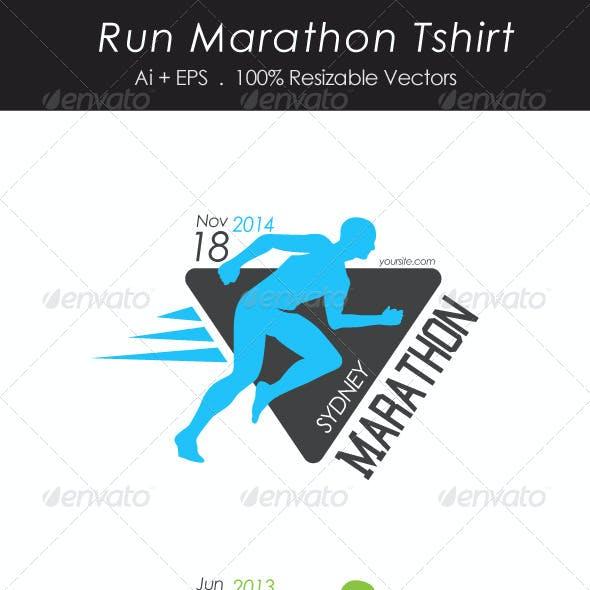 Run Marathon Tshirt