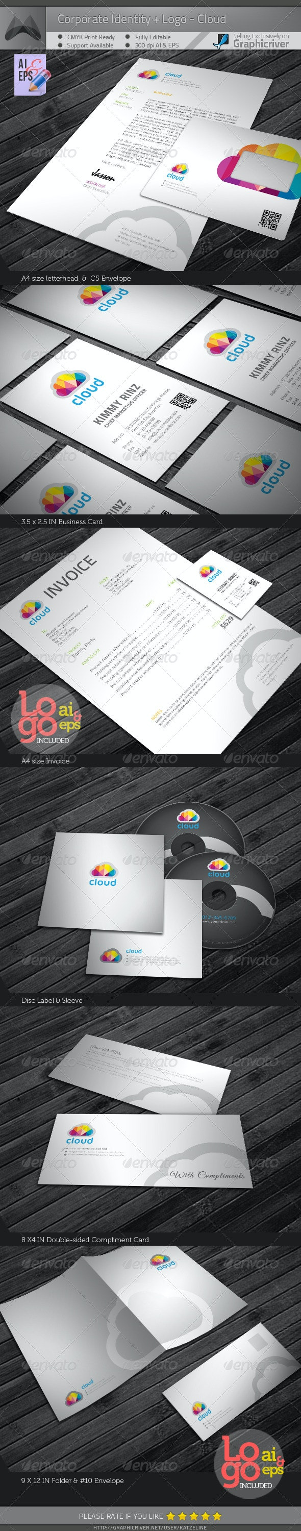 Corporate Identity Package - Cloud - Stationery Print Templates