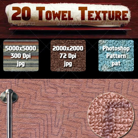 20 Towel Texture Pack