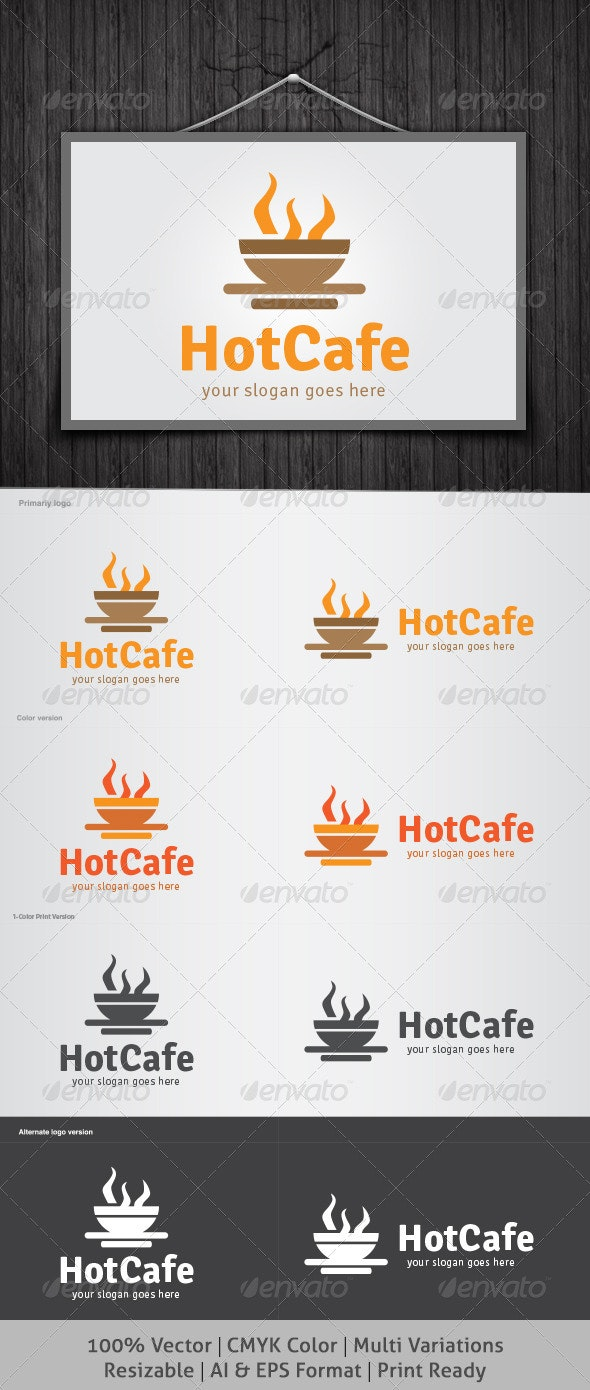 Hot Cafe Logo - Food Logo Templates
