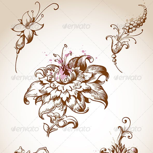 Victorian Foral Design Elements