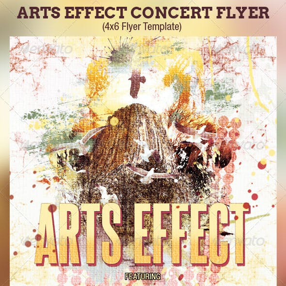 Arts Effect Flyer Template